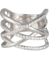 FROST by NOA 145023-52 Damen Silber Ring mit Zirkonia - Größe L