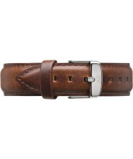 Daniel Wellington DW00200021 Mens klassische st mawes 40mm Silber hellbraunem Leder Ersatzarmband