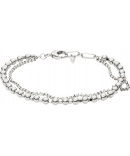 Fossil JA6775040 Damenmode Silber Messing Perlen Armband