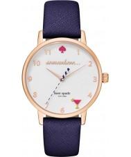 Kate Spade New York KSW1040 Damen U-Bahn-blaue Lederband Uhr
