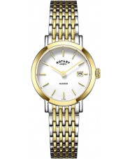Rotary LB05301-01 Damen Uhren windsor Ton zwei vergoldete Uhr