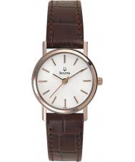 Bulova 98V31 Damen kleiden weiß braun Uhr
