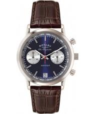 Rotary GS90130-05 Mens les originales Sport Rächers blau braun Chronograph