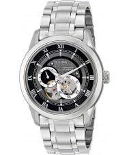 Bulova 96A119 Mens automatische Silber Stahl-Armbanduhr