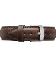 Daniel Wellington DW00200023 Mens klassische bristol 40mm Silber braunem Leder Ersatzarmband