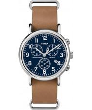 Timex TW2P62300 Weekender braunem Armband-Chronograph