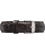 Daniel Wellington DW00200025 Mens klassische york 40mm Silber dunkelbraunem Leder Ersatzarmband
