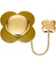 Orla Kiely D341 Damen Daisy-Chain-18-karätigem Gold überzogen Blumenbrosche