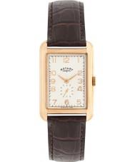 Rotary GS02699-01 Herren-Uhren Portland Rose Gold braunes Lederarmband Uhr