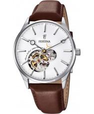 Festina F6846-1 Mens automatische braunes Lederband Uhr