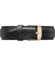 Daniel Wellington DW00200007 Mens klassische 40mm sheffield Rotgold schwarzes Leder Ersatzarmband