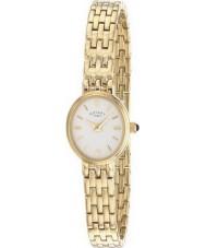 Rotary LB02084-02 Damen Uhren weiß vergoldete Uhr