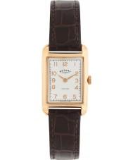 Rotary LS02699-01 Damen Uhren Portland-Vintage-Look braunes Lederband Uhr