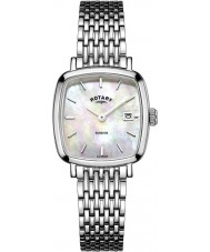 Rotary LB05305-07 Damen Timepieces windsor Silberton Stahl-Uhr
