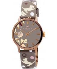 Radley RY2068 Damen Beuteltier Zirkus Drucklederband Uhr