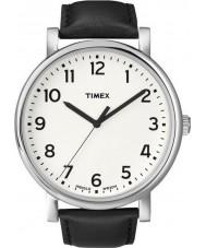 Timex T2N338 Mens weiß schwarz klassische runde Uhr