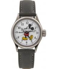 Disney by Ingersoll 25570 Damen klassische Mickey Maus grau Nubuk Bügeluhr