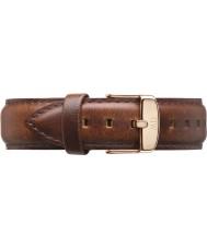 Daniel Wellington DW00200006 Mens klassische 40mm st mawes Roségold hellbraunem Leder Ersatzarmband