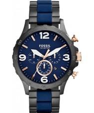 Fossil JR1494 Herren nate Chronograph schwarz ip navy Uhr