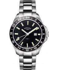 Rotary GB05017-04 Herren-Uhren havanna Silberton Stahluhr