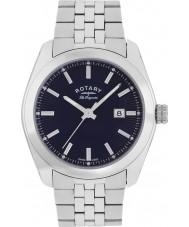 Rotary GB90110-05 Mens les originales lausanne Silber Stahl Armbanduhr