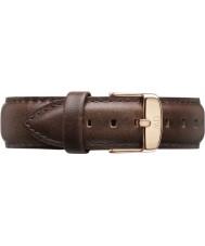 Daniel Wellington DW00200009 Mens klassische bristol 40mm Roségold braunem Leder Ersatzarmband