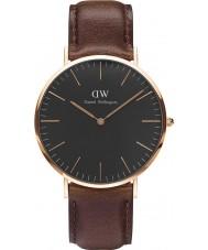 Daniel Wellington DW00100125 Klassische schwarze bristol 40mm Uhr