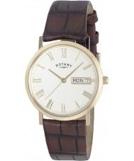 Rotary GS02324-32 Herren-Uhren windsor weiß braun ultra slim Uhr