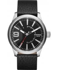 Diesel DZ1766 Mens Raspel schwarzes Lederband Uhr