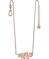Orla Kiely N4014 Damen Kumpel 18ct Roségold Stamm Muster Halskette
