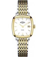 Rotary LB05306-01 Damen Uhren windsor Ton zwei vergoldete Uhr