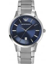 Emporio Armani AR2477 Herren klassische blaue silberne Uhr