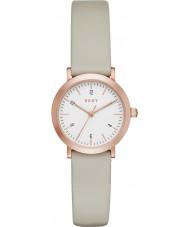 DKNY NY2514 Damen Minetta grau Lederband Uhr
