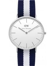 Daniel Wellington DW00100047 Damen klassische glasgow 36mm silberne Uhr