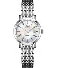 Rotary LB90153-07 Damen les originales windsor white pearl Silberton Uhr