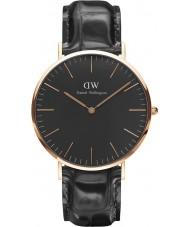 Daniel Wellington DW00100129 Klassische schwarze Lese 40mm Uhr
