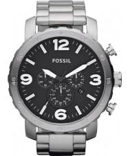 Fossil JR1353 Herren nate Chronograph schwarz Stahl Uhr