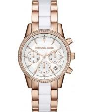 Michael Kors MK6324 Damen ritz Rose und weiß Chronograph