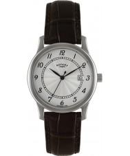Rotary GS00792-22 Herren-Uhren Silber braun Uhr