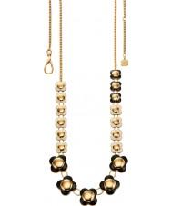 Orla Kiely N4020 Damen Daisy-Chain-18-karätigem Gold monochrome lange Blumenkette