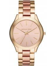 Michael Kors MK3493 Damen schlank Runway Gold und Rose-Armbanduhr