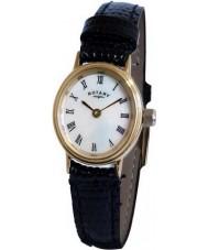 Rotary LS00471-07 Damen Uhren schwarze Uhr