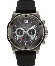 Bulova 98B259 Mens Marine Star schwarz Silikonband Chronograph