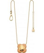 Orla Kiely N4023 Damen Daisy-Chain-18-karätigem Gold blush Blume Anhänger Halskette