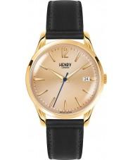 Henry London HL39-S-0006 Westminster Mitte Champagner schwarze Uhr