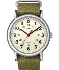 Timex T2N651 Mens natürliche Oliven Weekender durchrutschen Uhr