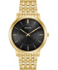 Bulova 97A127 Mens ultra dünne vergoldete Armbanduhr