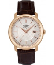 Rotary GS90093-06 Mens les originales braunes Leder Uhr