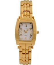 Krug-Baumen 1963DLG Tuxedo Gold 4 Diamant-weißes Zifferblatt Gold Band