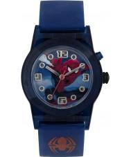 Disney SPD3425 Jungen Marvel Ultimate Spiderman blinkende Uhr mit blauen Silikonband